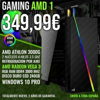 ORDENADOR PC GAMING AHTLON 3000G VEGA 3 8GB RAM