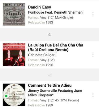 Lote 16 Discos de vinilo House/Dance