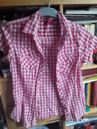 Camisa manga corta rosa