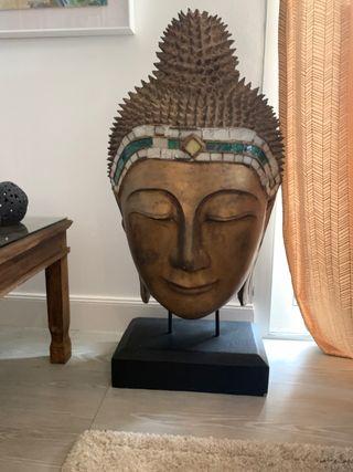 Escultura Buda de madera ( pieza singular )