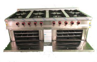 cocina 8 fuegos + horno industrial