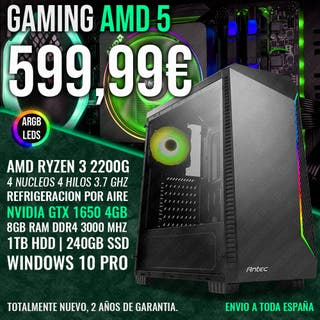 ORDENADOR PC GAMING RYZEN 3 3200G GTX 1650 8GB