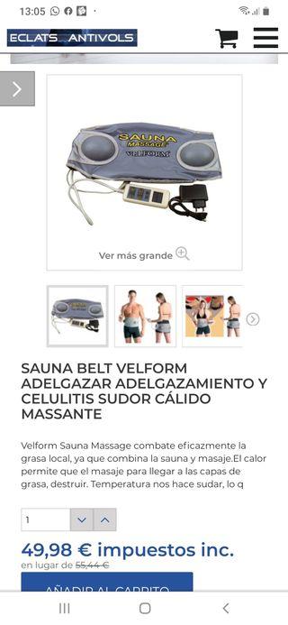 cinturon adelgazante Velform Sauna Massage