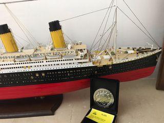 maqueta de barco del Titanic