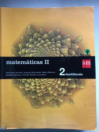 Libro Matemáticas II - 2 Bachillerato