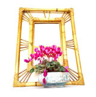 Espejo de caña vintage