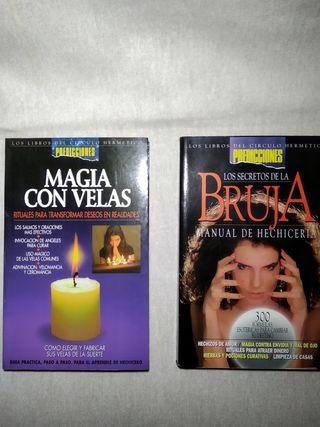 Libros Magia con velas y hechizos.