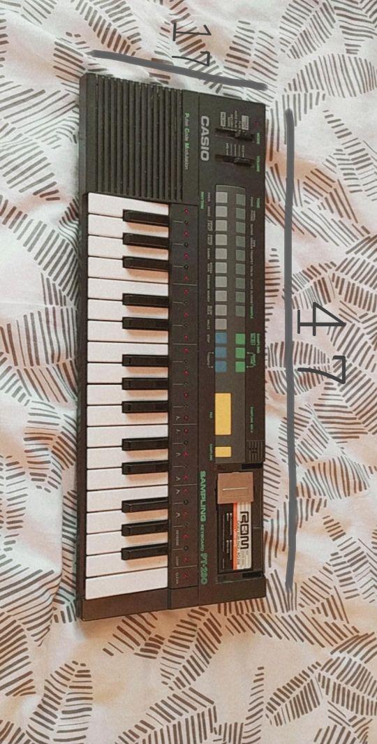 Teclado piano sampling keyboard pt-280
