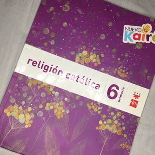 Libro Religión Católica 6º de primaria