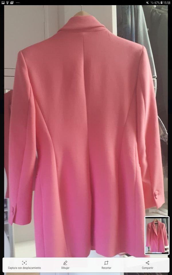 Levita Blazer Americana Zara rosa fucsia
