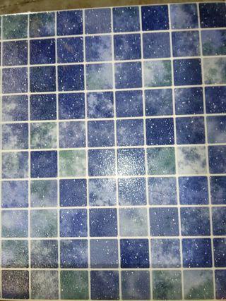 Azulejos para el baño gres azul