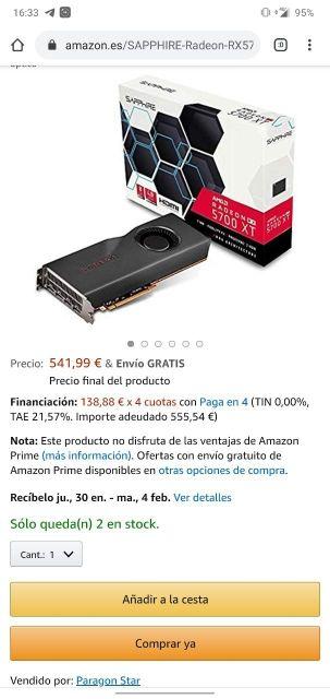 *NUEVA* tarjeta gràfica AMD 5700 XT