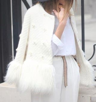 Abrigo corto con apliques de SHEIN