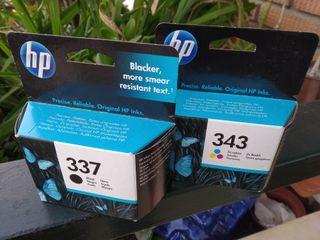 Cartuchos Inyección de Tinta HP 337-343 ORIGINALES