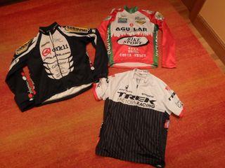 3 maillot termico bicicleta largo y corto L invers