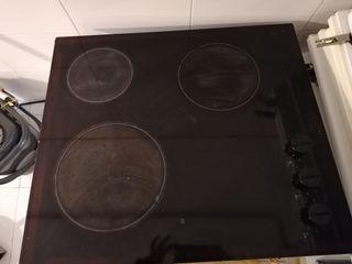 vitroceramica, horno y campana extracción
