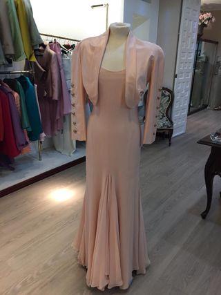 Vestido novia o fiesta de gasa natural