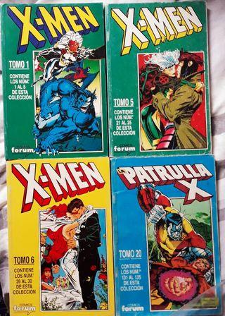 Cómics: Retapados X-Men y Patrulla-X.