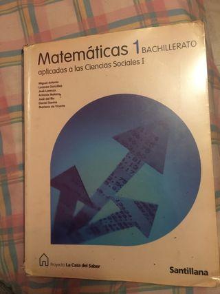 Libro de Matemáticas 1 bachillerato