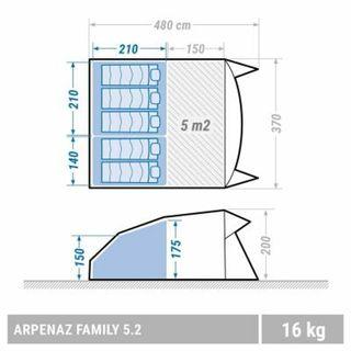 Tienda de campaña Arpenaz Family 5 plazas