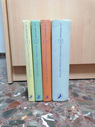 libros 1,2,3 y 5 Harry Potter