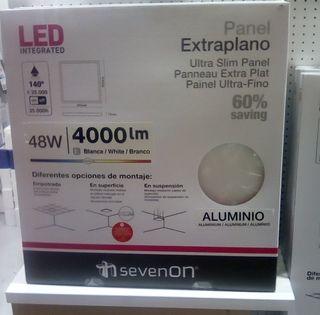 pantalla extraplana en aluminio de led