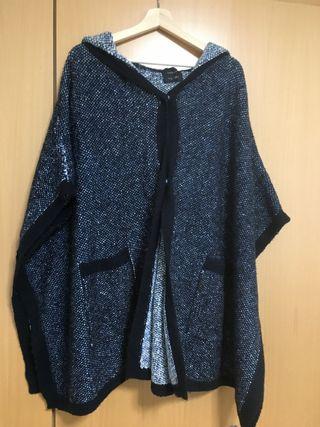 Poncho de lana mujer