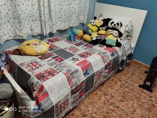 cama 90+colchón muelles