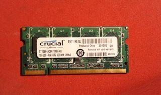 Memoria RAM para portátil de 1 GB