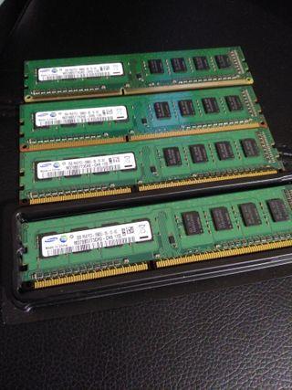 8GB RAM DDR3 1333mhz 4x2 Modulos