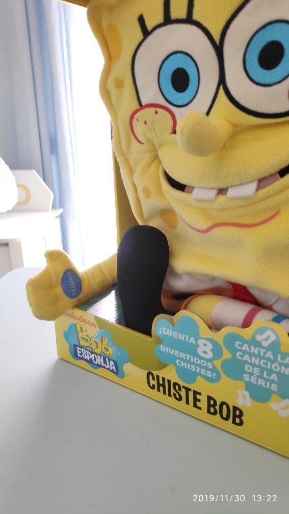 Peluche 'Bob esponja' (canta y cuenta chistes).