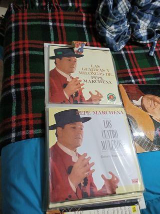 colección discos de flamenco antiguos de vinilo