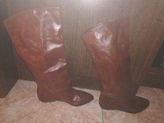 botas planas de piel 37