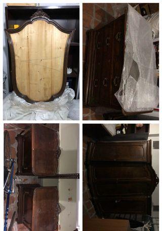 Dormitorio madera nogal de 1900