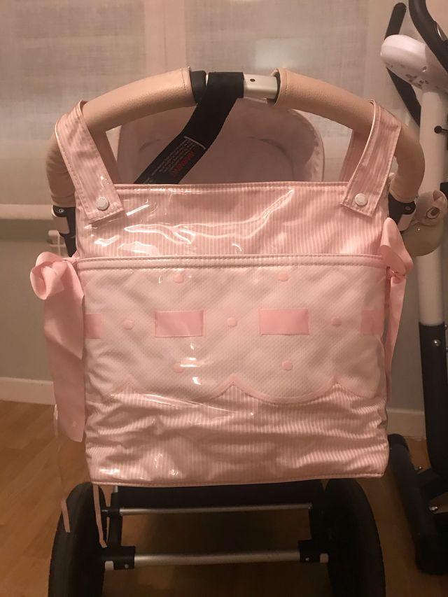 Conjunto uzturre para carrito bugaboo rosa bebe