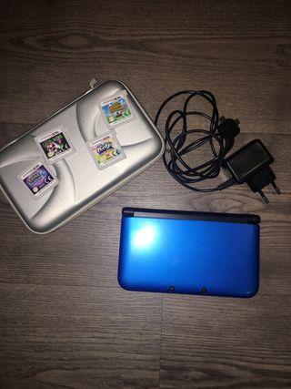 Nintendo 3DS XL + 4 juegos + cargador + funda