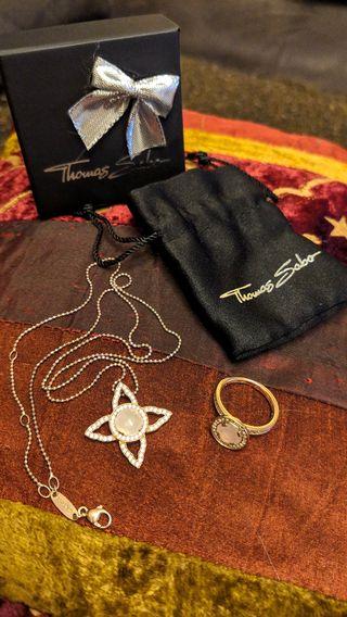 Thomas Sabo Anillo y Collar colgante joyas