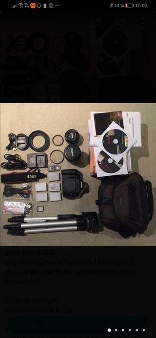 Kit Canon 600d + objetivos