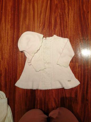 vestido+capota bebé Litle Kings talla 12 meses