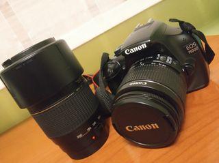 Canon Eos 1100D con dos objetivos