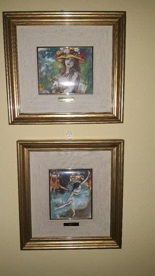 2 cuadros esmalte