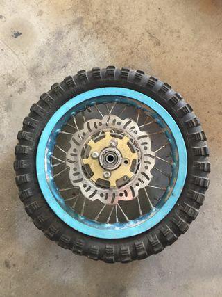 Rueda pitbike 125cc