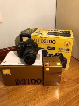 Cámara Nikon D3100 + objetivo 18-55mm