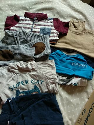 Lote ropa bebé niño