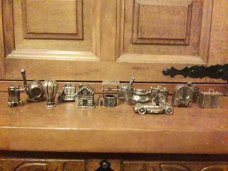 Colección de 13 miniaturas de zamax o peltre