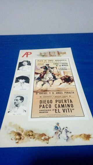 Postal cartel de toros