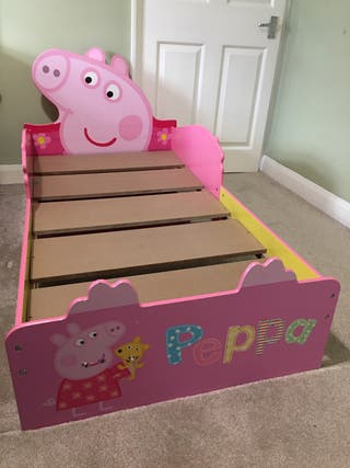 Peppa Pig Kids Toddler Bed with Mattress