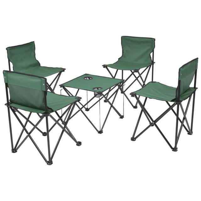 Muebles plegables de camping 5 piezas