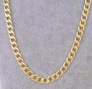 Cadena Oro Amarillo Gold Filled Eslabón 8mm