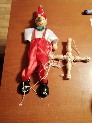 muñeco Pinocho de madera
